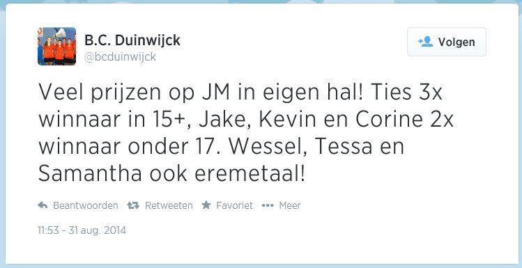 Duinwijck JM 2014