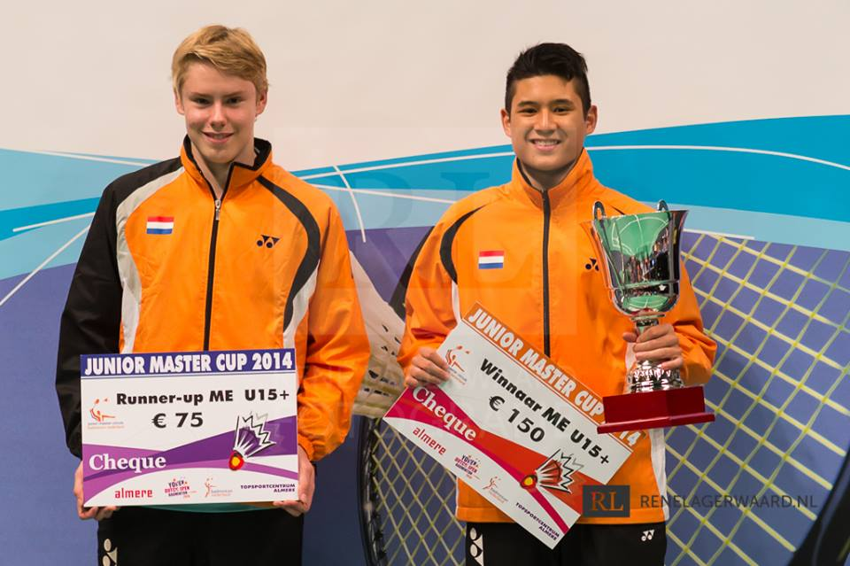 Dutch Open 2014 Junior Master Cup Kevin 1e prijs ME U15+